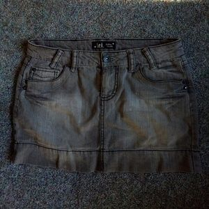 Lei L.E.I mini denim jean skirt